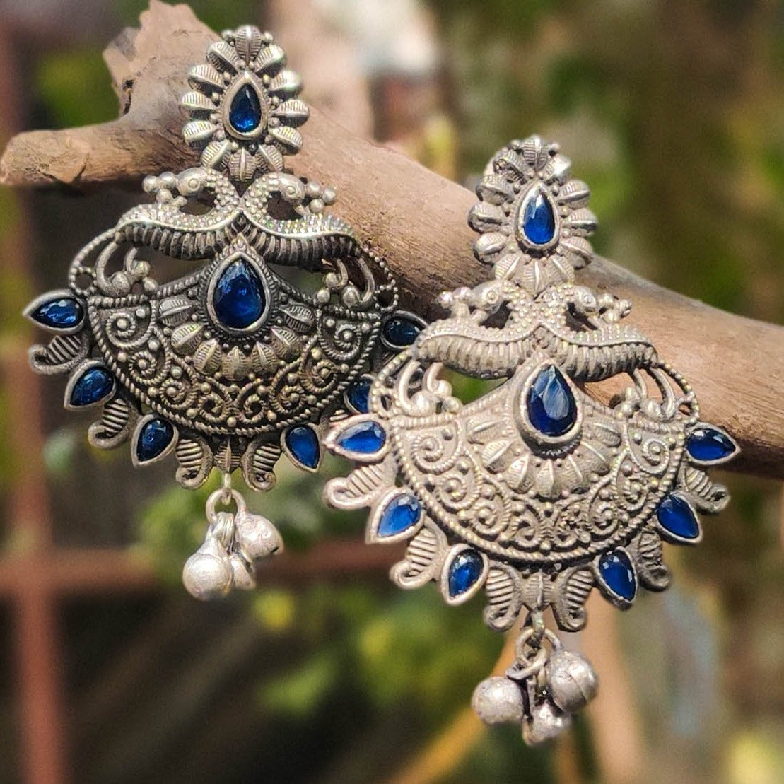 Special Oxidised Brass Base Antique Finish Jhumki Earrings