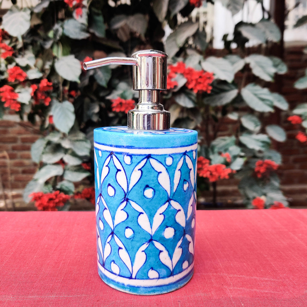 Original Blue Pottery Ceramic Liquid Soap Dispenser