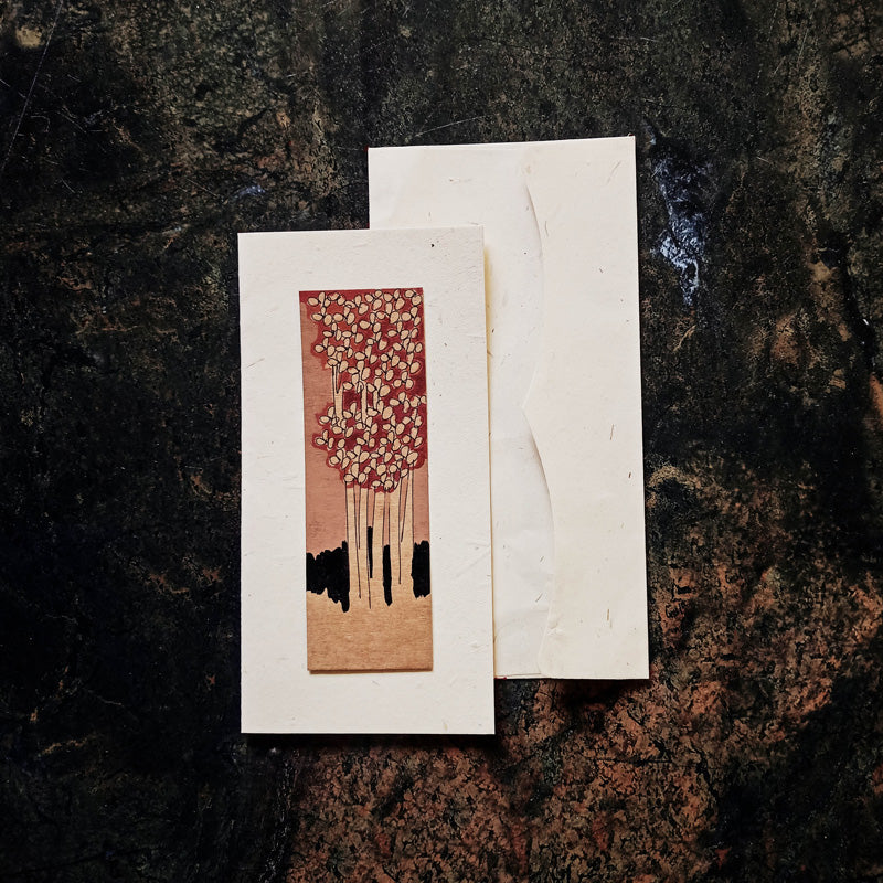 Artwork Handmade Paper Greeting Card with Envelope (Single Piece)