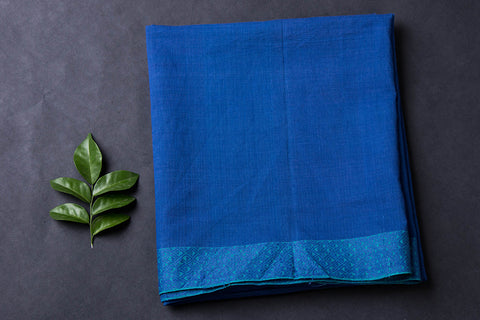 Pre-shrunk Mangalgiri Handloom Bordered Cotton Blouse Piece