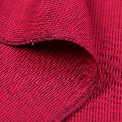 Dark Red - Dastkar Andhra Pre-Shrunk Handloom Stripe Cotton Fabric