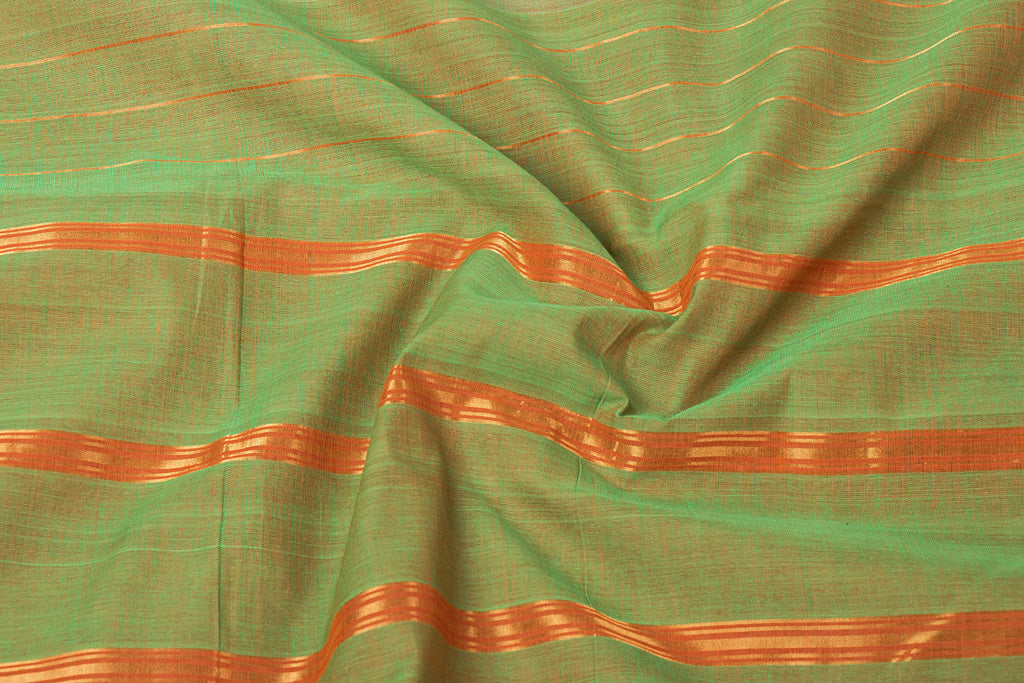 Mangalgiri Godavari Bharani Cotton Saree with Blouse by DAMA
