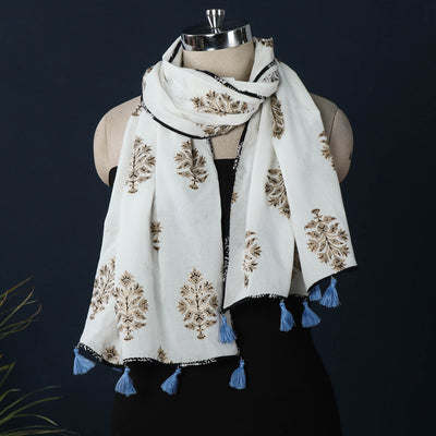 Sanganeri Hand Block Printed Cotton Stole
