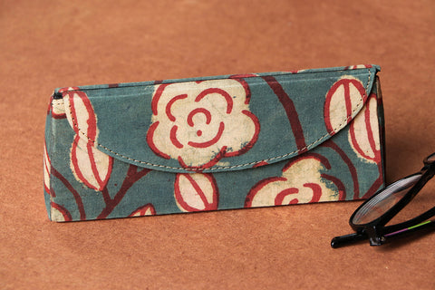 Koral Block Printed Fabric Spectacle Case