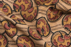Original Pedana Kalamkari Block Print Natural Dyed Cotton Fabric