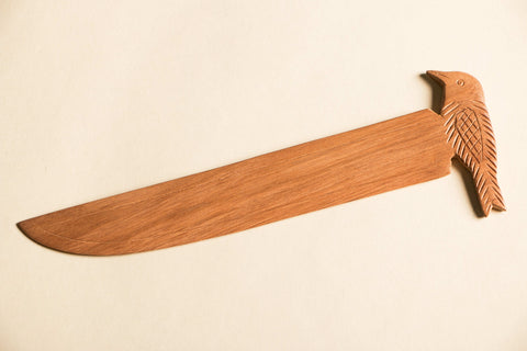 Hand Carved Loquat Wooden Paper Cutter