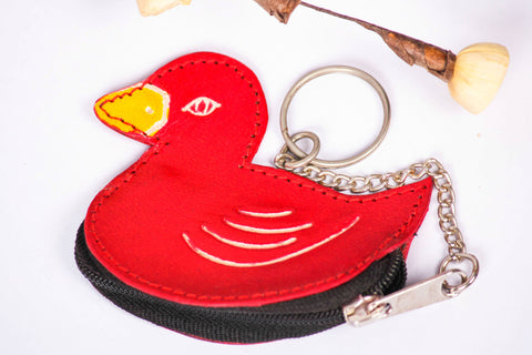Duck Leather Keychain