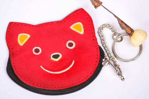 Teddy Leather Keychain