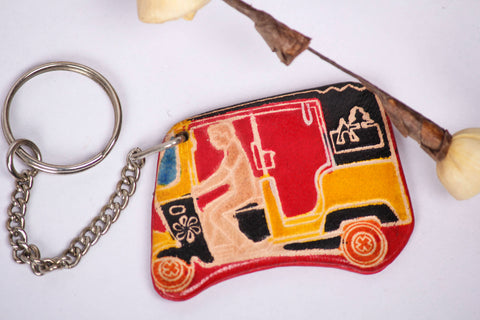 Taxi Kolkata  Leather Keychain