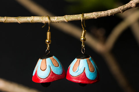 Bishnupur Handpainted Terracotta Earrings