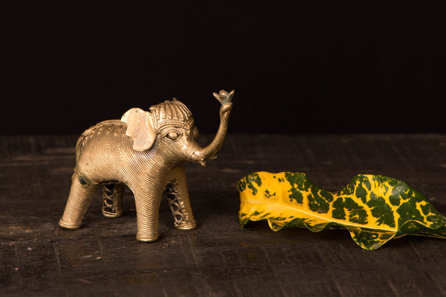 Tribal Bastar Dhokra Craft - Elephant