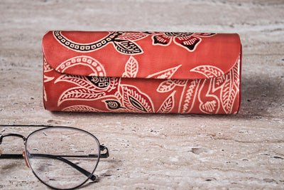 Handcrafted Pure Leather Embossed Spectacle Case