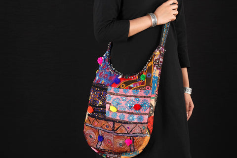 Classic Vintage Sindhi Embroidery Patchwork Bag