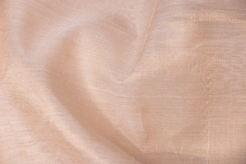Chanderi Silk Golden Tissue Handloom Fabric
