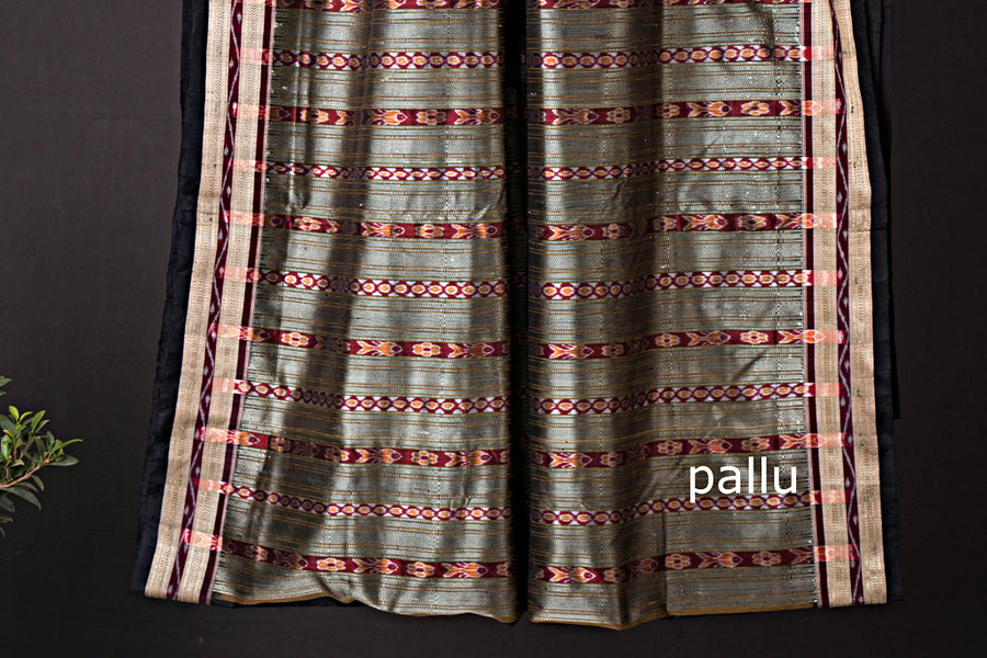 Traditional Bomkai Silk Handwoven Saree from Odisha