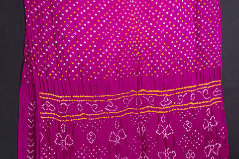 Pure Gaji Silk Traditional Dani Bandhani Saree