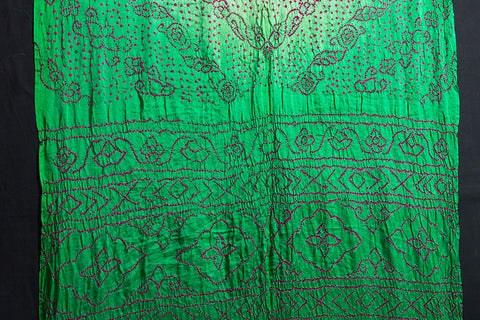 Pure Gaji Silk Zari Traditional Bandhani Saree