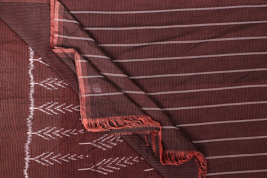 Pedana Block Print Kalamkari Mangalgiri Handloom Cotton Fabric by DAMA