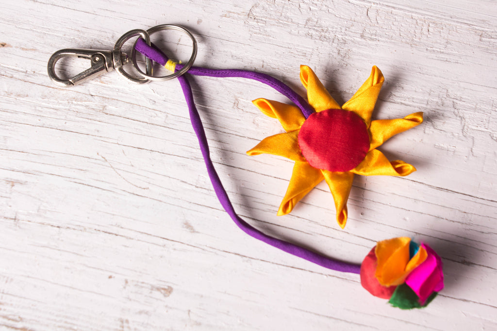 Sunflower Keychain by Jugaad