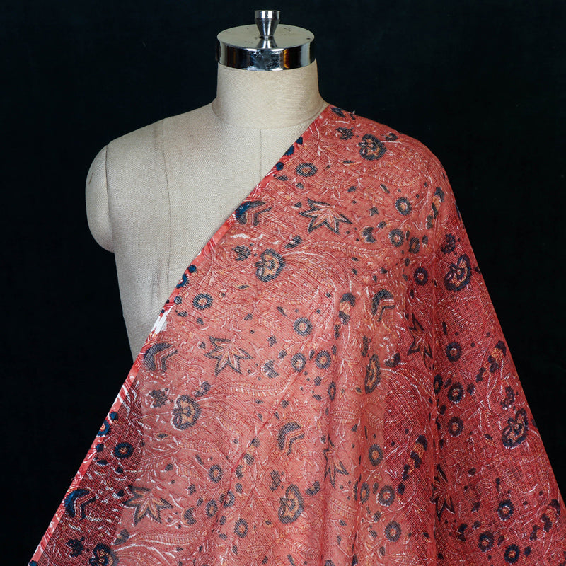 Special Sanganeri Block Printed Kota Doria Cotton Fabric by Santosh Kumar Dhanopia