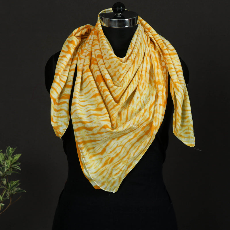 Shibori Tie-Dye Pure Cotton Scarf
