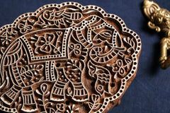 Kalamkari Teak Wood Handcarved Block