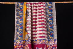 Kalamkari Print Silk Cotton Saree with Blouse piece