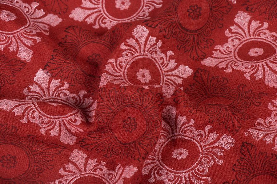 Special Kachauna Block Printed Handloom Cotton Fabric