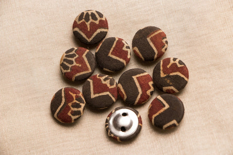 Ajrakh Fabric Button Medium (Set Of 10)