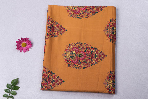 2.2 Meter - Jaipur Screen Printed Flex Cotton Precut Fabric