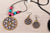 Tikuli Art Handpainted Wooden Necklace Set