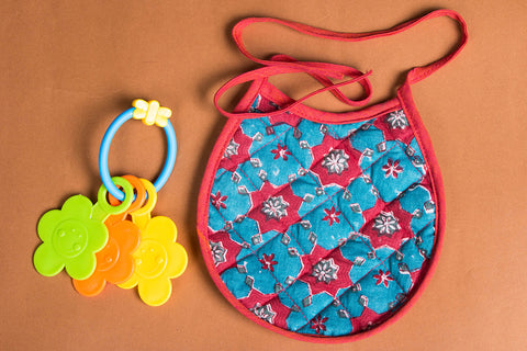 Printed Cotton Fabric Baby Bib