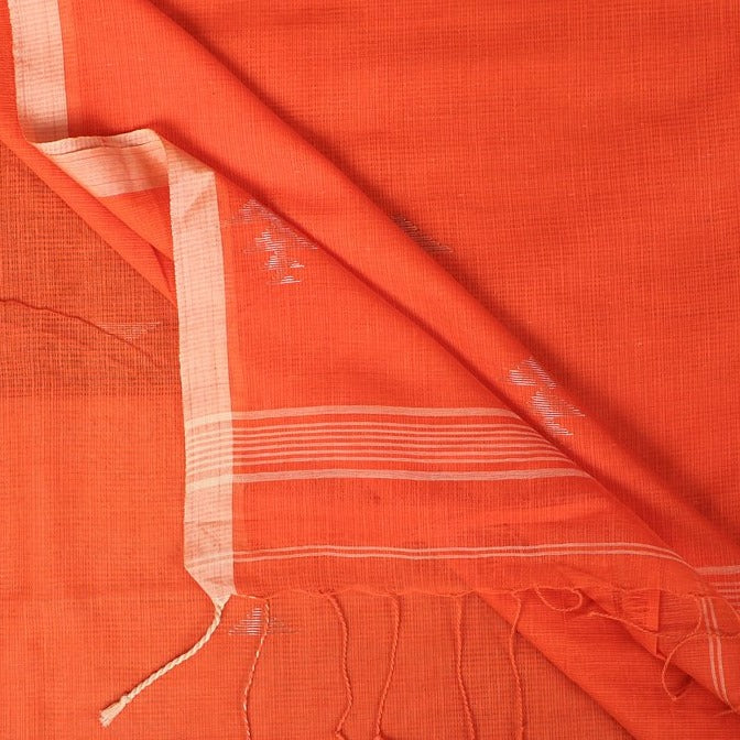 Phulia Bengal Hanwoven Silk Cotton Kota Doria Saree