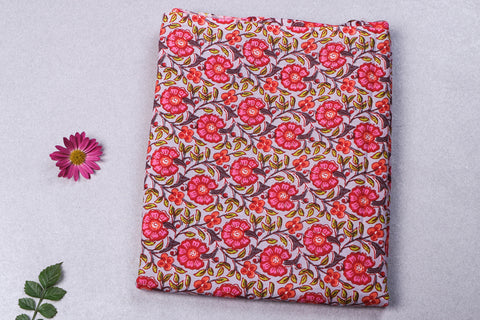 1.9 Meter - Jaipur Screen Printed Flex Cotton Precut Fabric