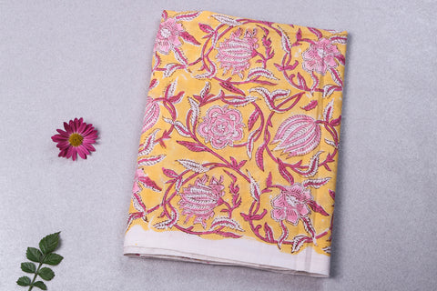 1.35 Meter - Jaipur Screen Printed Flex Cotton Precut Fabric