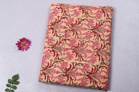 1.5 Meter - Jaipur Screen Printed Cotton Precut Fabric