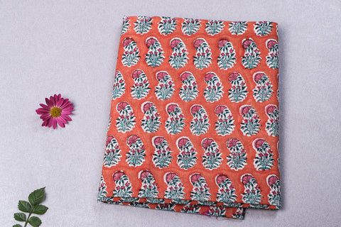 1.8 Meter - Jaipur Screen Printed Cotton Precut Fabric