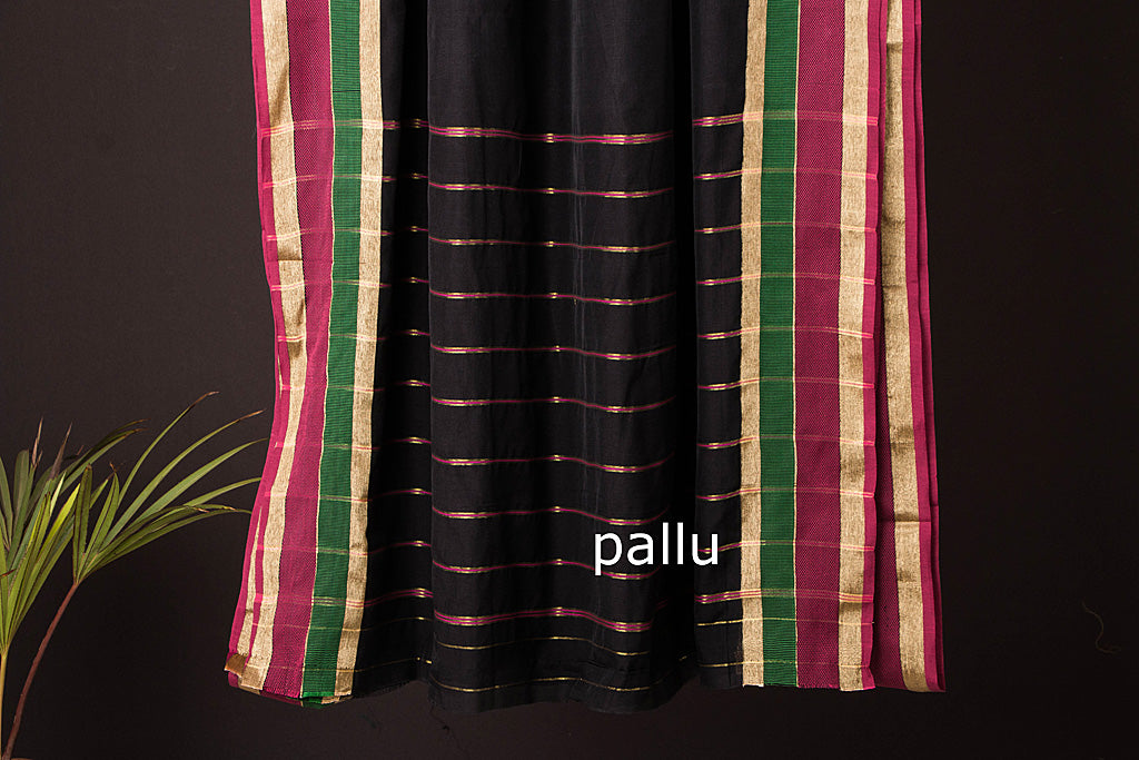 Narayanpet Cotton Plain Zari Border Handloom Saree