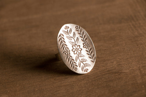 Hilly Sterling Silver Adjustable Ring