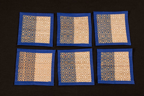 Madur Grass Square Coaster of Midnapur (Set of 6)