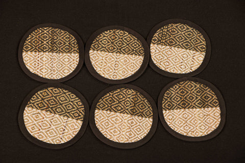 Madur Grass Round Coaster of Midnapur (Set of 6)