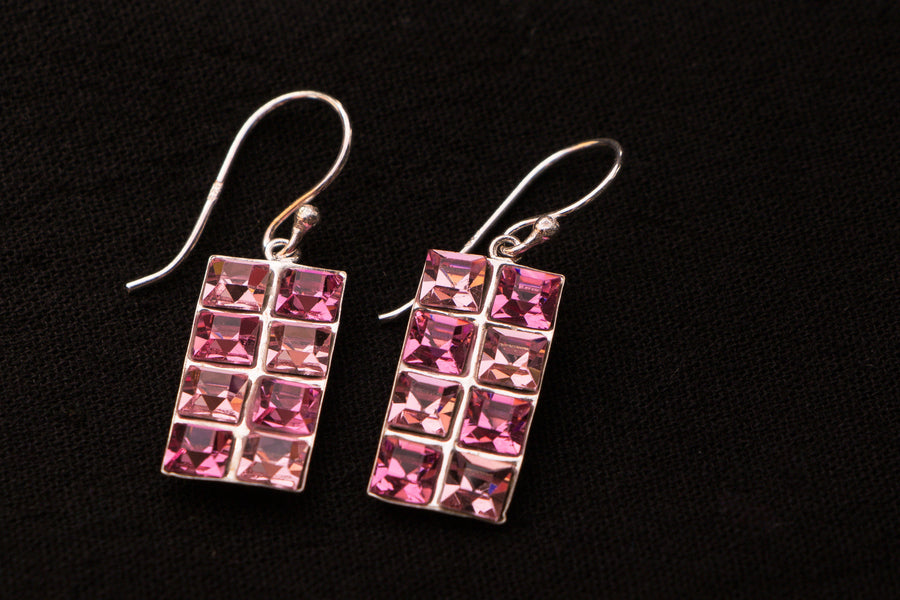 Sterling Silver Crystal Stone Earring