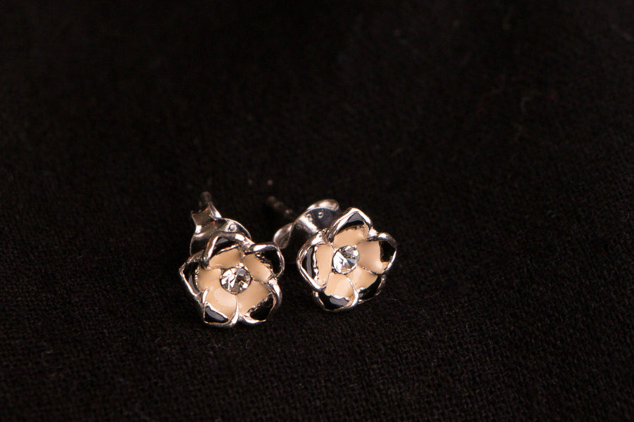 Sterling Silver Stone Stud