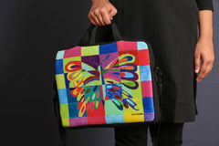 Printed Laptop Bag - Jigsaw Butterfly
