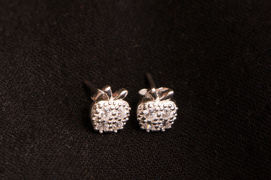 Sterling Silver Crystal Stone Stud