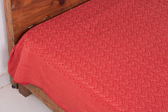 Handloom Cotton Double Bedcover from Bijnor by Nizam