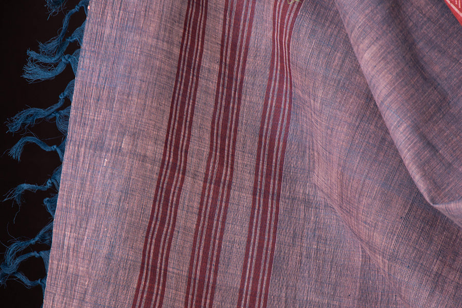 Self Jaquard Cotton Fabric With Mangalgiri Khadi Cotton Dupatta 2pc Set