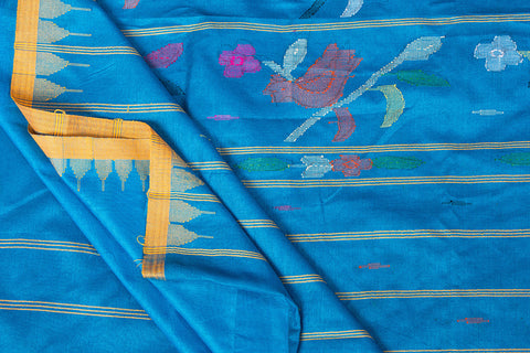 Moirangphee Manipuri Silk Cotton Traditional Pure Handloom Saree with Blouse