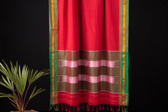 Ilkal Cotton Silk Handwoven Zari Border Saree