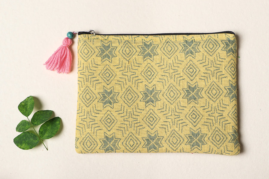 Handmade Cotton Fabric Jewelry Pouch